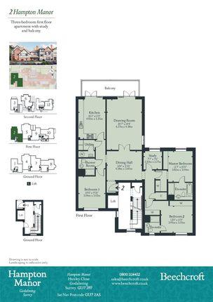 Floorplan of Huxley Close, Godalming, Surrey GU7