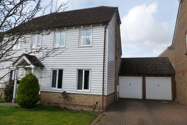 Thumbnail Semi-detached house for sale in The Bulrushes, Singleton, Ashford