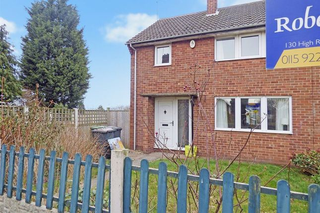 Thumbnail Semi-detached house to rent in Hanley Avenue, Bramcote, Nottingham