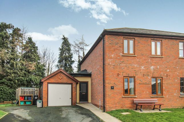 Thumbnail Semi-detached house for sale in Caerhowel Meadows, Montgomery