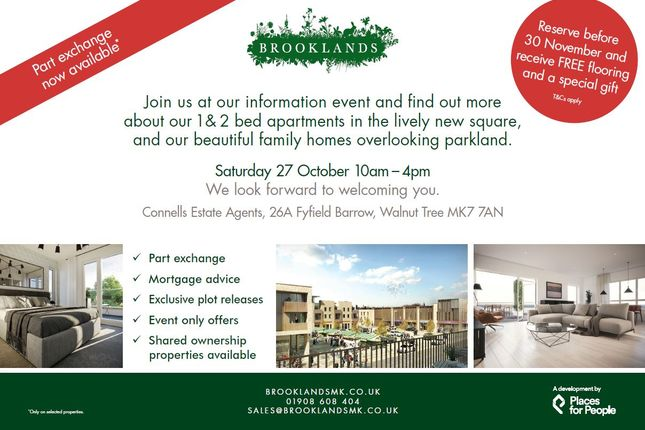 Thumbnail Flat for sale in The Square, Brooklands, Milton Keynes