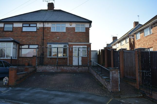 Thumbnail Semi-detached house for sale in Bryngarth Crescent, Off Uppingham Road, Leicester