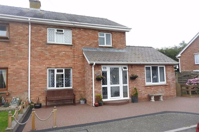 Thumbnail Semi-detached house for sale in Maesglas, Cardigan, Ceredigion