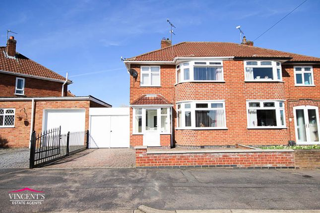 Thumbnail Semi-detached house for sale in Brockenhurst Drive, Leicester