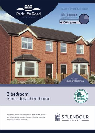 Thumbnail Semi-detached house for sale in Radcliffe Road, Fleetwood