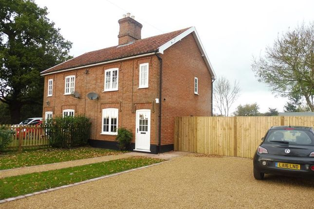 Thumbnail Semi-detached house to rent in Foals Green, Wilby, Eye