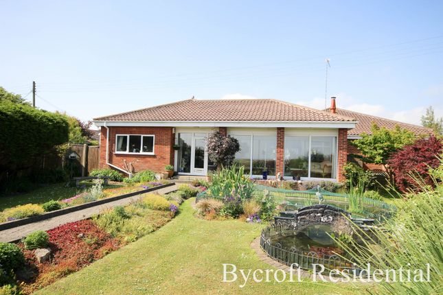 Thumbnail Detached bungalow for sale in The Esplanade, Scratby, Great Yarmouth