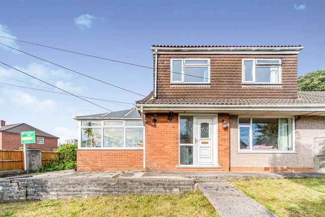 Thumbnail Semi-detached bungalow for sale in Old Parish Road, Hengoed