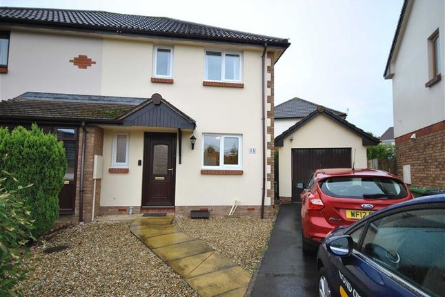 Thumbnail Semi-detached house to rent in Hele Close, Barnstaple, Devon