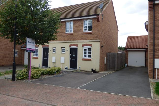 Thumbnail End terrace house to rent in Newbury Crescent, Bourne