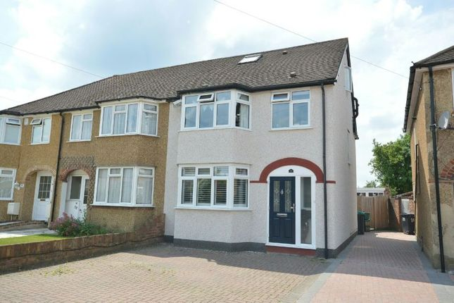 Thumbnail End terrace house for sale in Beverley Close, Chessington