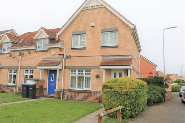 Thumbnail End terrace house for sale in The Midfield, Middlesbrough