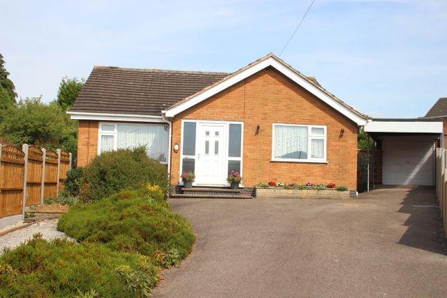 Thumbnail Detached bungalow for sale in Campton Close, Burbage, Hinckley