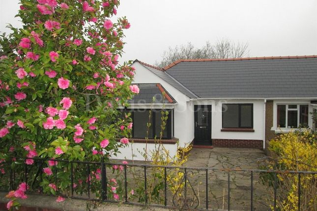 Thumbnail Semi-detached bungalow for sale in Many Trees, Pennar Lane, Pentwynmawr, Newbridge, Newport.