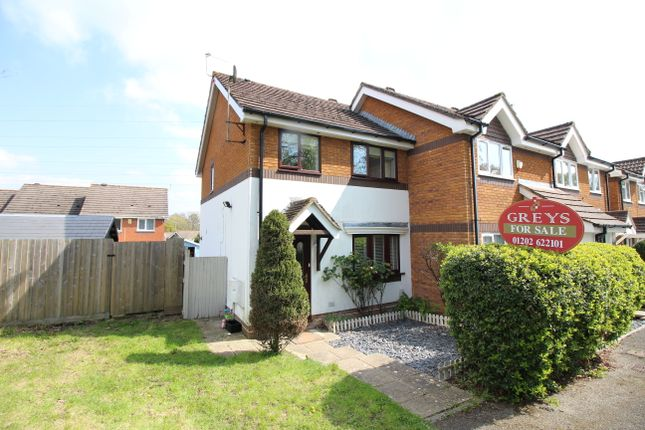 Thumbnail End terrace house for sale in Bridle Close, Upton, Poole