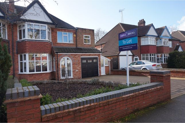 Thumbnail Semi-detached house to rent in Ladbrook Road, Solihull