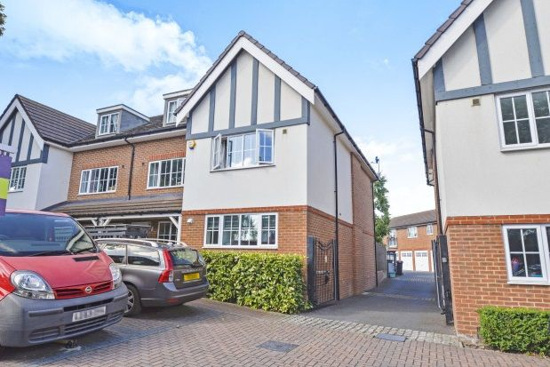 Thumbnail Town house to rent in Cuddington Avenue, Worcester Park