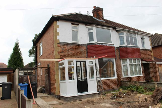 Thumbnail Semi-detached house to rent in Melton Avenue, Littleover, Derby, Derbyshire