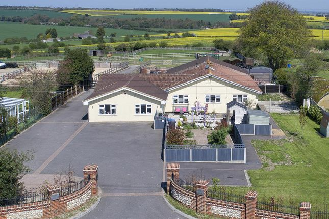 Thumbnail Equestrian property for sale in Downs Road, East Studdal, Dover