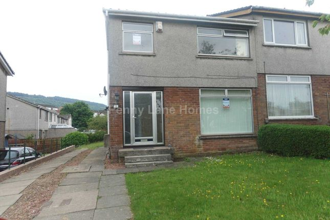 Thumbnail Semi-detached house to rent in Hazelwood Avenue, Paisley