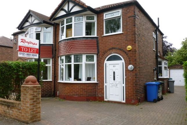 Thumbnail Semi-detached house to rent in Craddock Road, Sale, 3Ll.