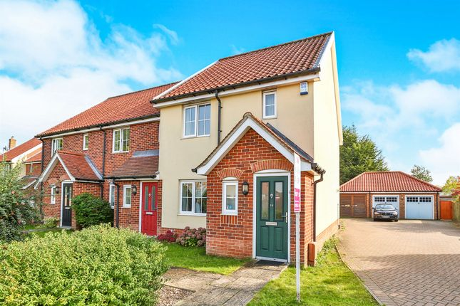Thumbnail End terrace house for sale in Mckee Drive, Tacolneston, Norwich