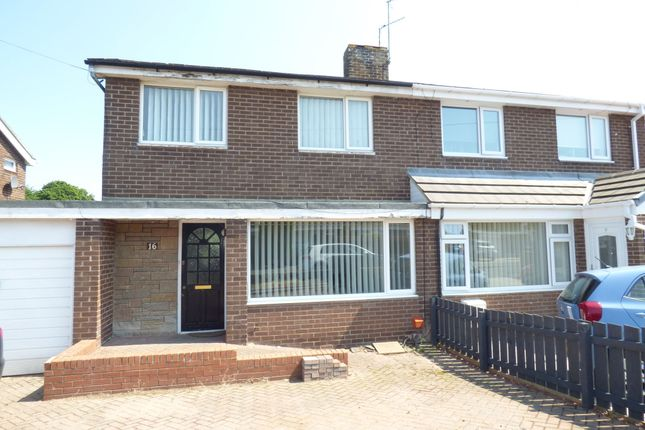 Thumbnail Semi-detached house to rent in The Gables, Widdrington, Morpeth