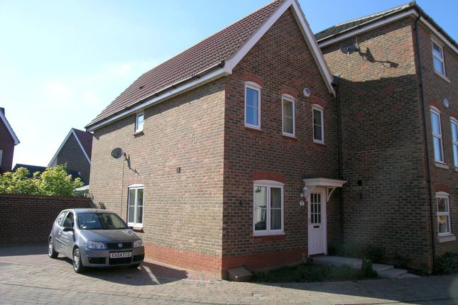 Thumbnail End terrace house to rent in Kingfisher Road, Bury St. Edmunds