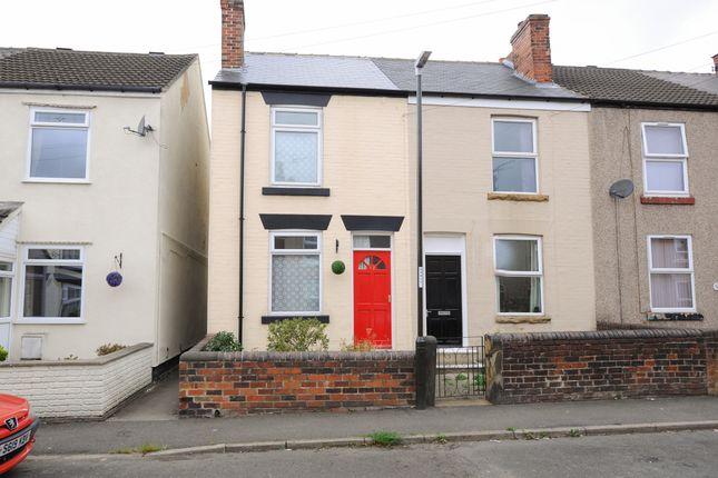 Thumbnail End terrace house for sale in Wellington Street, New Whittington, Chesterfield
