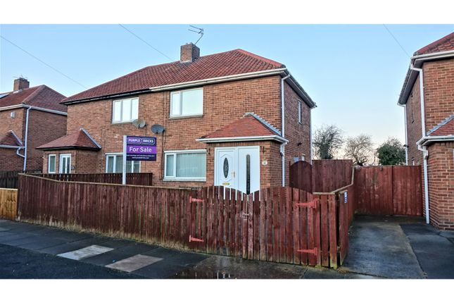 Thumbnail Semi-detached house for sale in Dudley Drive, Cramlington