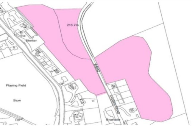 Thumbnail Land for sale in Lauder Road, Galashiels