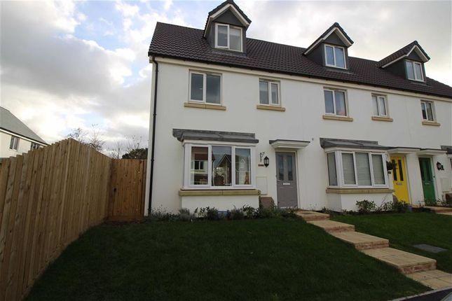 Thumbnail End terrace house to rent in Sea King Close, Bickington, Devon