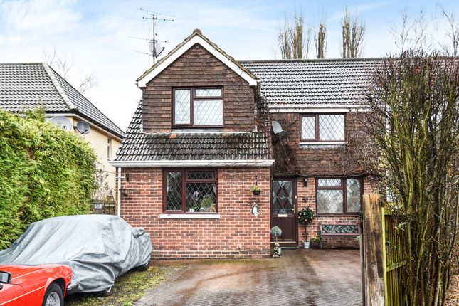 Thumbnail Semi-detached house for sale in College Crescent, Sandhurst, Berkshire