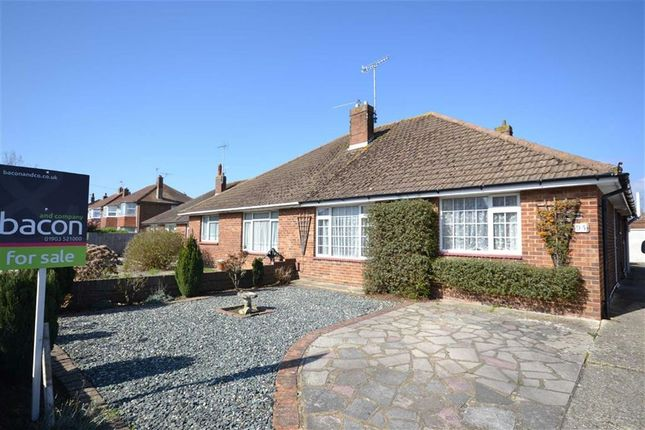 Thumbnail Semi-detached bungalow for sale in Terringes Avenue, Worthing, West Sussex