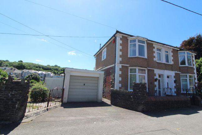 Thumbnail Semi-detached house for sale in Cwmtorlais Road, Newbridge, Newport