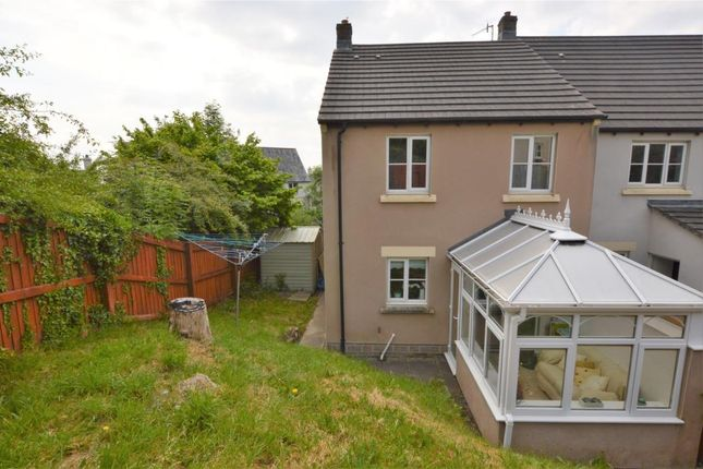 Thumbnail End terrace house for sale in Treetop Close, Pillmere, Saltash, Cornwall