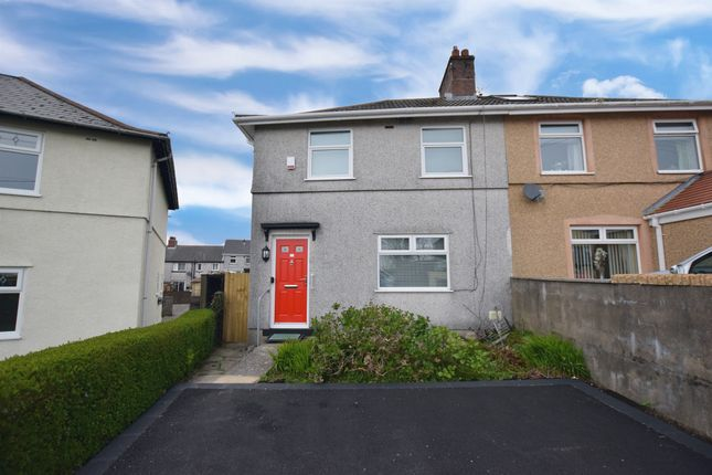 Thumbnail Semi-detached house for sale in Llwyn-On Crescent, Oakdale, Blackwood