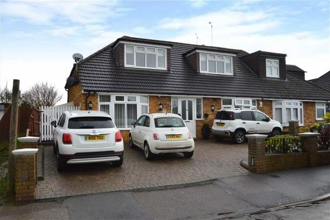 Thumbnail Semi-detached house for sale in Alderwood Drive, Abridge, Romford
