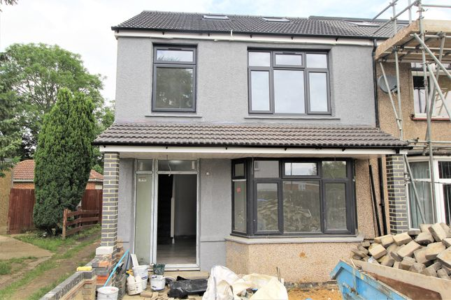 Thumbnail End terrace house to rent in Queens Avenue, Greenford