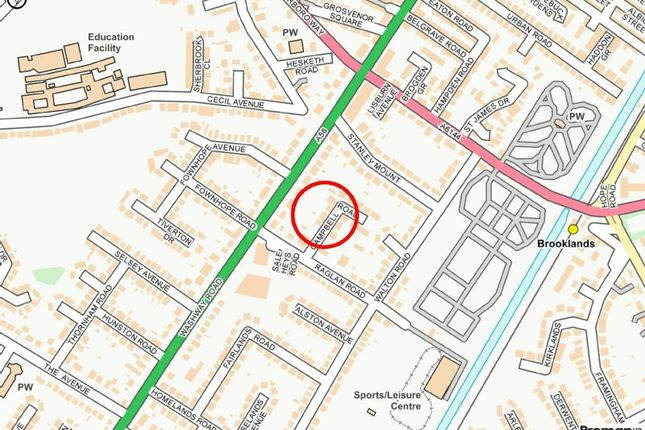 Street Plan of Campbell Road, Sale M33
