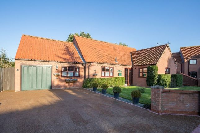 Thumbnail Detached bungalow for sale in Turnpike Close, Foxley, Dereham