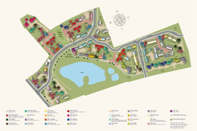 Site Plan of Birch Gate, Silfield Road, Wymondham, Norfolk NR18