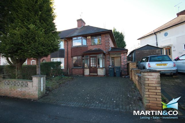 Thumbnail Semi-detached house to rent in Tennal Road, Harborne
