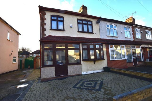 Thumbnail End terrace house for sale in Chadwell Heath Lane, Chadwell Heath, Romford