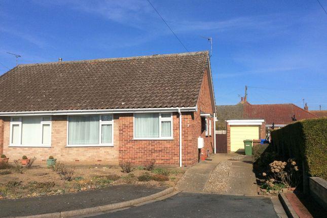 Thumbnail Semi-detached bungalow for sale in Millbank, Bridlington, E Yorkshire
