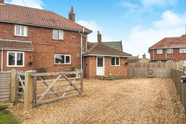 Thumbnail Semi-detached house for sale in Hamon Close, Old Hunstanton, Hunstanton