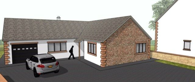 Thumbnail Detached bungalow for sale in The Bungalow, Burgh-By-Sands, Carlisle, Cumbria
