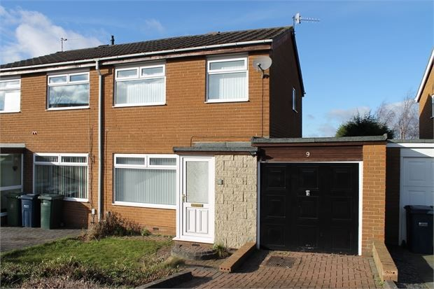 Thumbnail Semi-detached house for sale in Oakridge, Fellside Park, Whickham, Newcastle Upon Tyne.