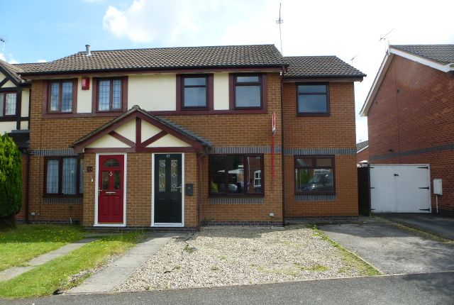 Thumbnail Semi-detached house to rent in Kestrel Drive, Coppenhall, Crewe, Cheshire