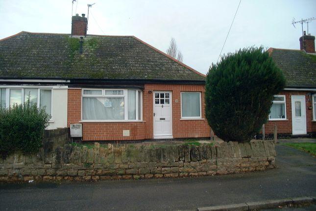 Thumbnail Bungalow to rent in Rockwood Crescent, Hucknall, Nottingham